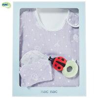 彌月寢具用品推薦到nac nac 四層紗幸福瓢蟲防踢被禮盒就在麗嬰房推薦彌月寢具用品
