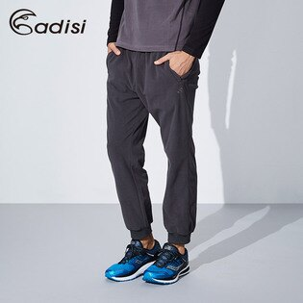 ADISI男束口年輕版刷毛保暖長褲AP1621068(S~2XL)城市綠洲專賣(保暖褲、吸濕排汗、輕量)