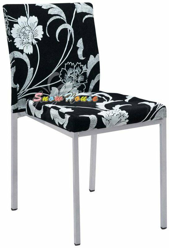 ╭~雪之屋居家 館~╯1021~15  P566~21 浮雕白玫瑰烤銀腳雅柏餐椅  椅