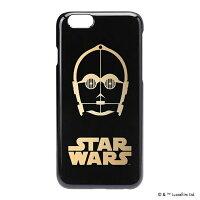 星際大戰 手機配件與吊飾推薦到尼德斯Nydus~* 日本正版 迪士尼 星際大戰 硬殼 手機殼 黑底燙金 機器人 C-3PO 4.7吋 iPhone6就在尼德斯Nydus推薦星際大戰 手機配件與吊飾