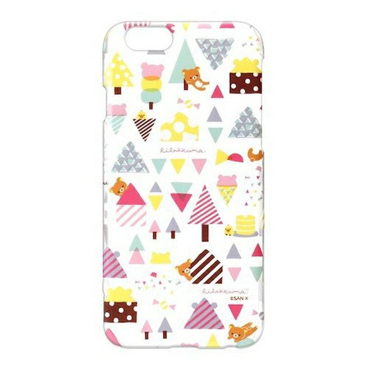 尼德斯Nydus~* 日本正版 San-X 懶熊 拉拉熊 硬殼 4.7吋 手機殼 iPhone 6/6S 冰淇淋(透明)款
