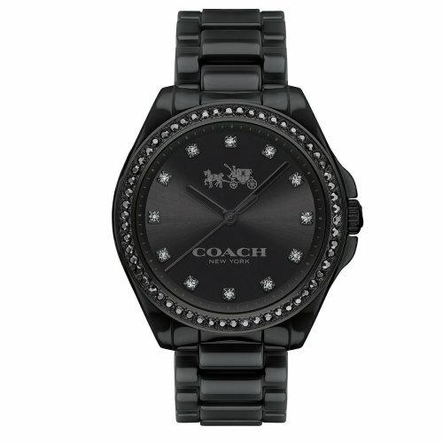 COACH耀眼迷人時尚陶瓷腕錶黑14502498