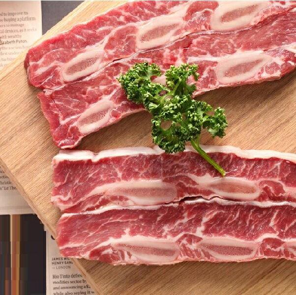 【四季肉舖】美國 特級Choice 帶骨牛小排 330g/包