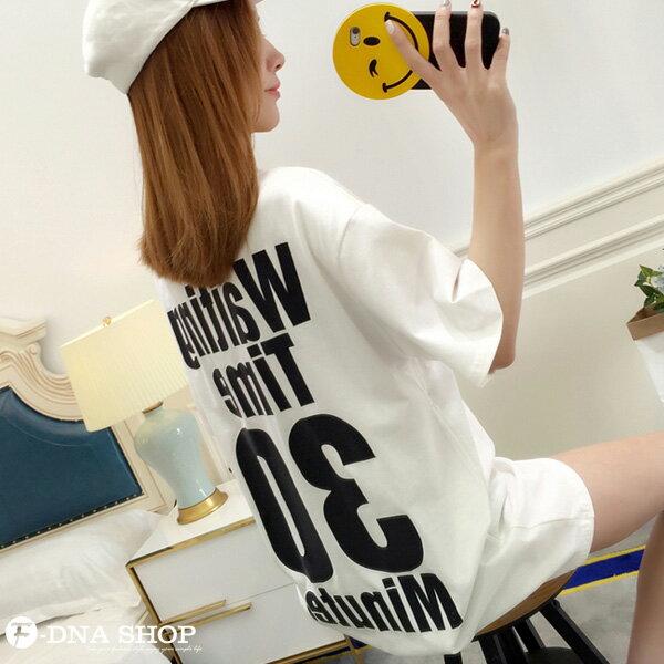 F-DNA★Waiting前後印字長版上衣圓領短袖T恤(3色-M-2XL)【ET12711】 8