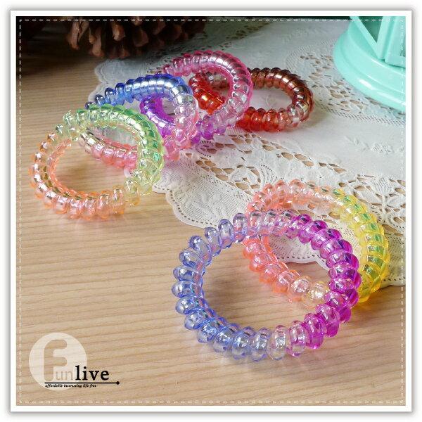 【aife life】電話線髮圈-大/韓系糖果色電話髮圈/不傷髮/漸層髮圈/鬆緊髮圈/髮飾/髮束/手環