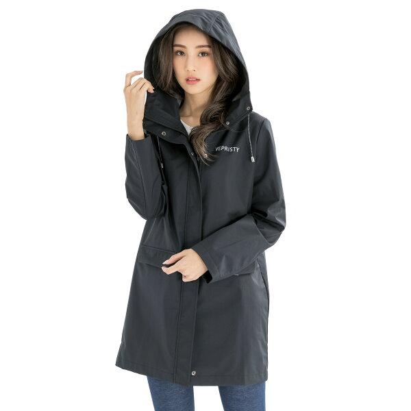 VEPRISTY:VEPRISTY防水透氣風衣外套(黑)