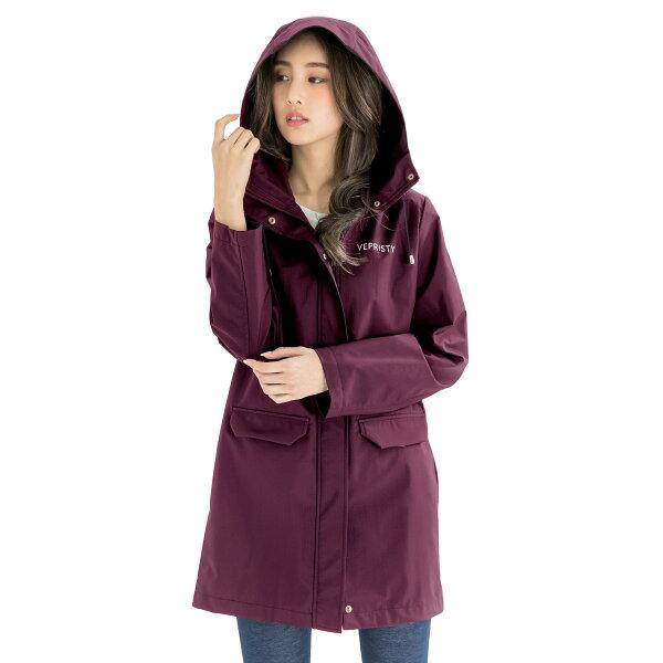 VEPRISTY:VEPRISTY防水透氣風衣外套(紫紅)