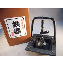 【福介生活館】日本南部鐵器~文秀堂~自在鉤 灰皿/煙灰缸~手工鑄鐵藝品~