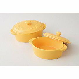 日本陶瓷 美濃燒 焗烤迷你小陶鍋 兩件組~烤箱適用 烘培~日本製