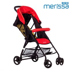 【麗嬰房】Merissa 美瑞莎 BX-11 可登機收納嬰幼兒手推車(艷陽紅)