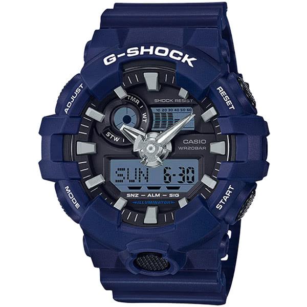 CASIO 卡西歐 G-SHOCK 粗曠感雙顯式運動男錶 防水手錶 GA-700-2ADR 原廠公司貨 附保證卡 保固期一年 手錶 運動錶 電子錶