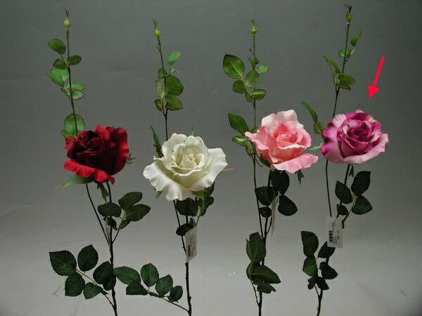 ★超低價★香頌玫瑰-紫 / 人造花 空間 景觀 佈置 造景