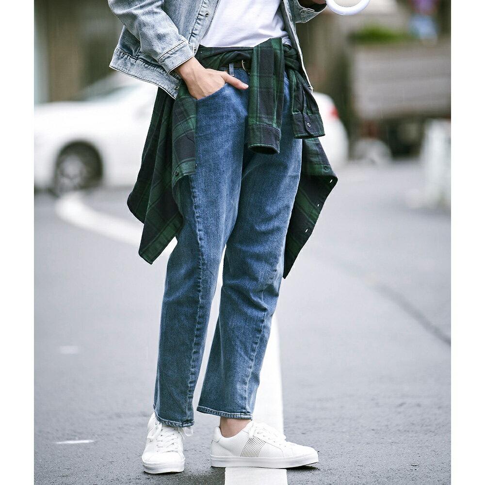 Levis 男款 上寬下窄  /  541低腰寬鬆牛仔褲  /  LEJ 3D褲  /  復古水洗 4