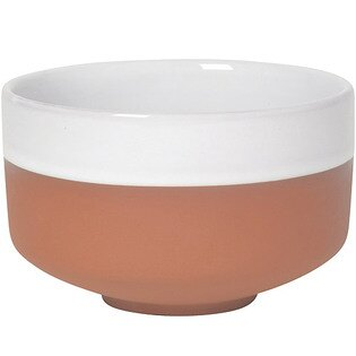 《NOW》雙色赤陶圓碗(白)