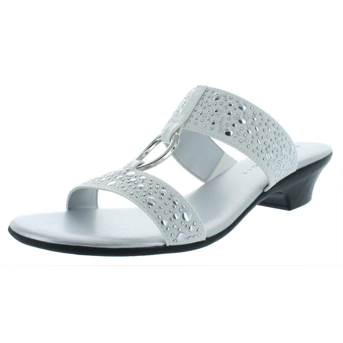 d5bbe55080203 Karen Scott Womens Eanna Fabric Open Toe Casual Slide Sandals