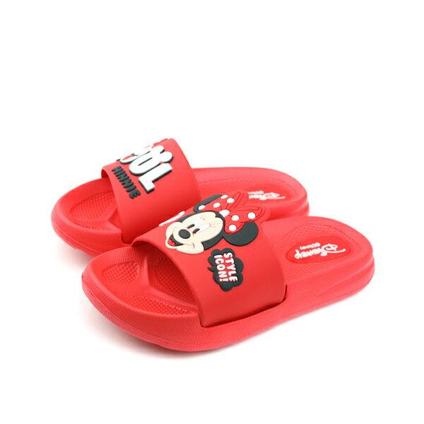 Disney 迪士尼 拖鞋 童鞋 紅色 中童 no871