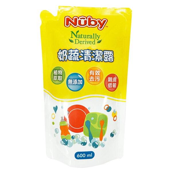 美國Nuby奶蔬清潔露補充包(600ml)