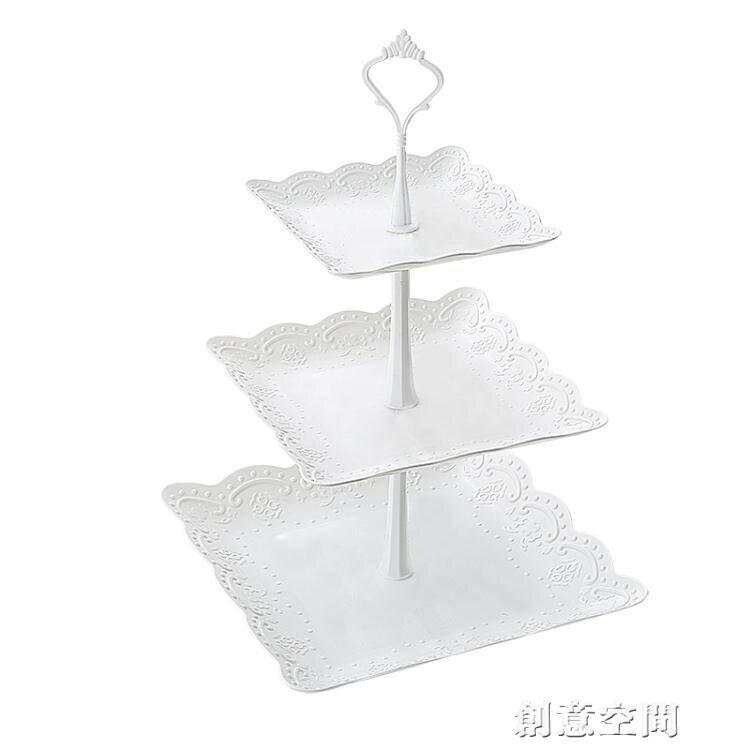 乾果盤歐式三層水果盤甜品台多層蛋糕架干果盤茶點心托盤甜品台生日趴