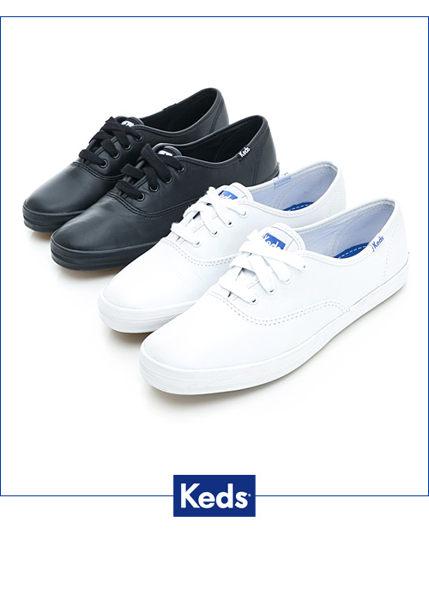 【KEDS 85折│全店免運】KEDS  經典升級皮質綁帶休閒鞋(白皮革) 白鞋│綁帶│懶人鞋│平底 4