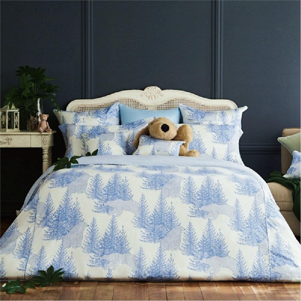 BBL Premium【北國英熊】100%棉 印花雙人四件式床包組