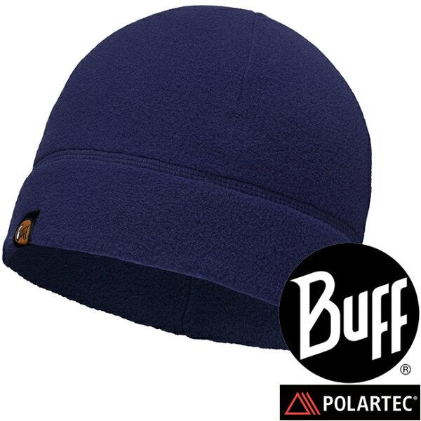 【【蘋果戶外】】BF110929-787西班牙BUFFpolar保暖帽素面深藍防寒帽登山帽防風帽