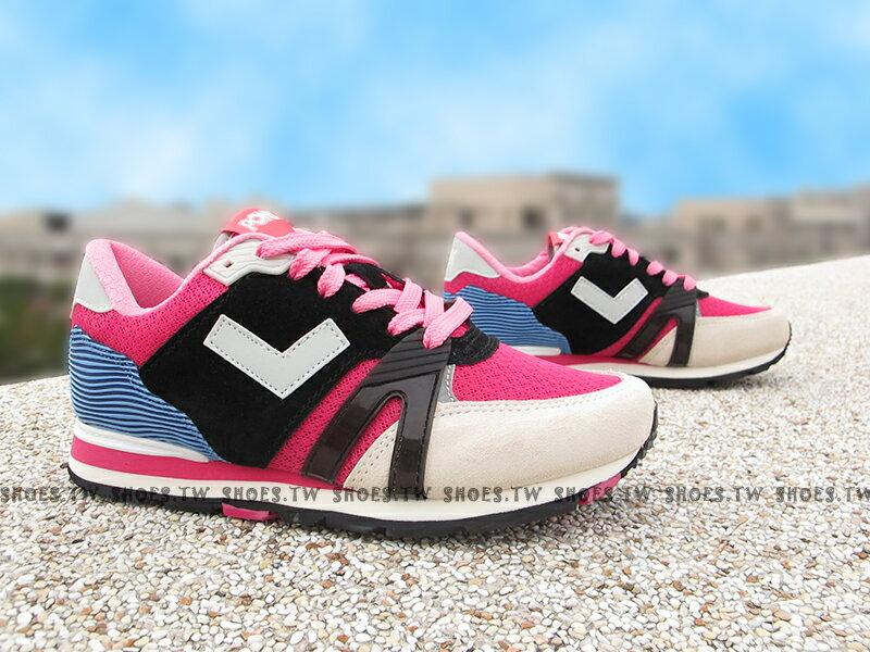 《超值7折》Shoestw【61W1SO67BK】PONY SOLA-T3 復古慢跑鞋 內增高 短V 麂皮 黑桃