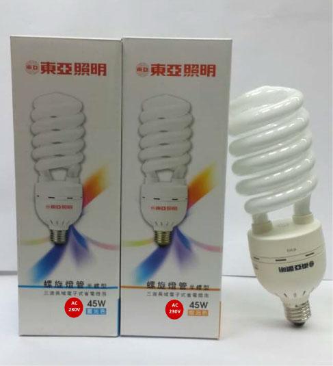 東亞★螺旋燈泡 220V 45W 白光 黃光★永旭照明TO-EFHS45D/L%
