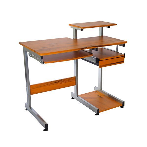 Techni Mobili Complete Computer Workstation Desk. Color: Woodgrain 0