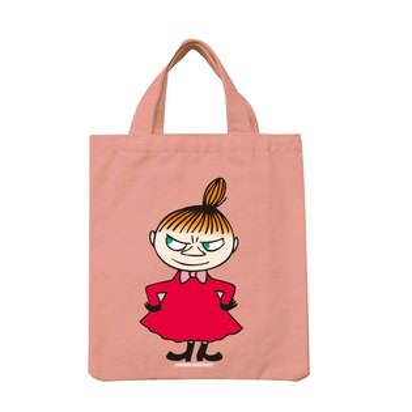 【嚕嚕米Moomin】手提帆布包-LiitleMy(粉紅黃)