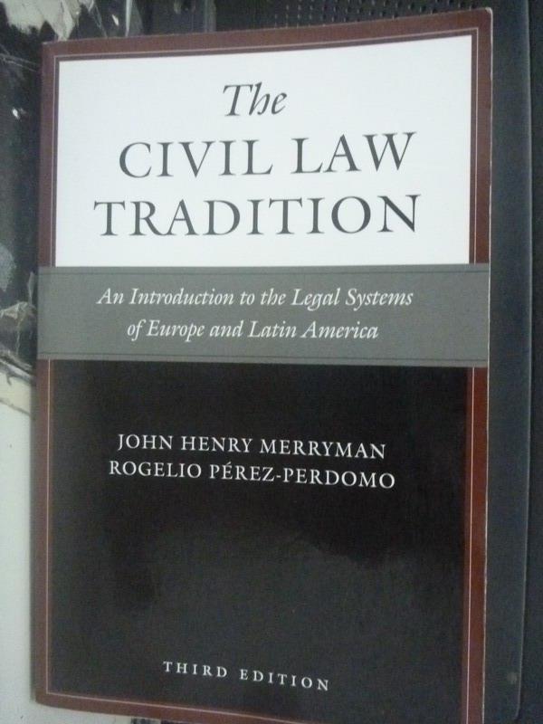 【書寶二手書T6/法律_LED】The Civil Law Tradition_John Henry Merryman