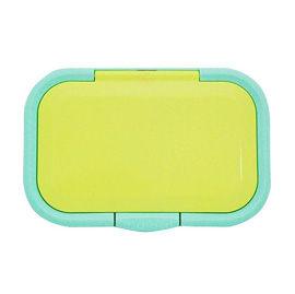 【悅兒樂婦幼用品?】日本 必貼妥 Bitatto 重覆黏濕紙巾專用盒蓋(彈跳系列)-藍綠色