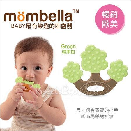 +蟲寶寶+【Mombella】樂咬咬蘋果樹固齒器-綠色《現+預》
