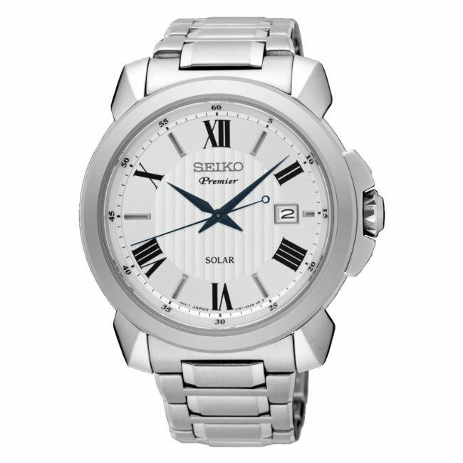 Seiko 精工錶 V157-0BZ0S(SNE453J1)+V137-0CT0S(SUT321J1) 正裝系列太陽能羅馬計時對錶/白面41+31mm