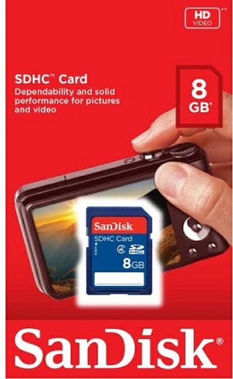 SanDisk 8GB SD 8G SDHC Class 4 C4 Secure Digital High Capacity Flash Memory Card SDSDB-008G 1