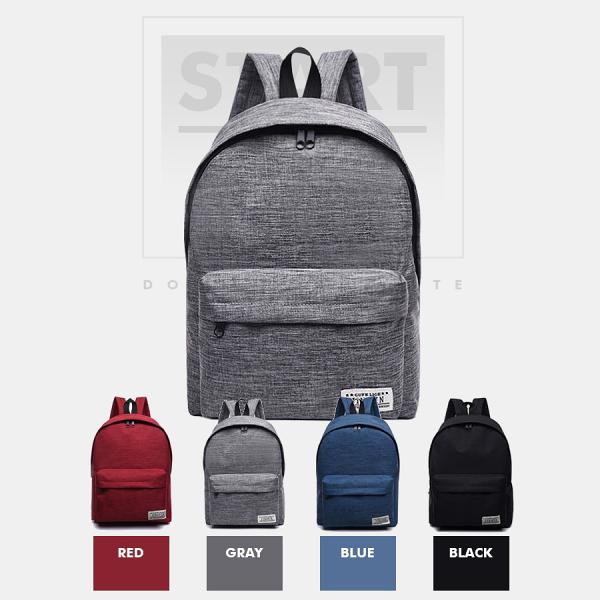 韓版英文標籤後背包雙肩包後背包帆布包休閒背包學院風旅行收納【RB497】