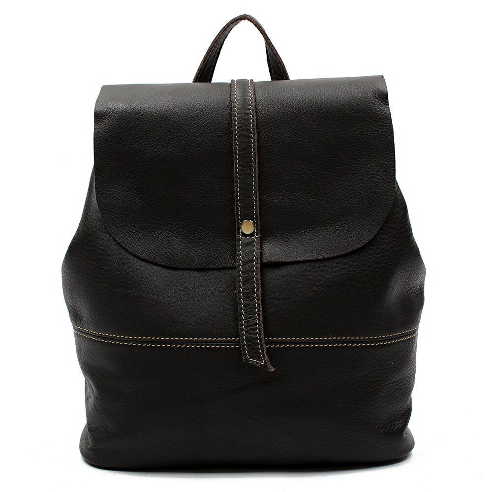 【BEIBAOBAO】英倫風情植鞣真皮後背包(共兩色:氣質黑 ) 2