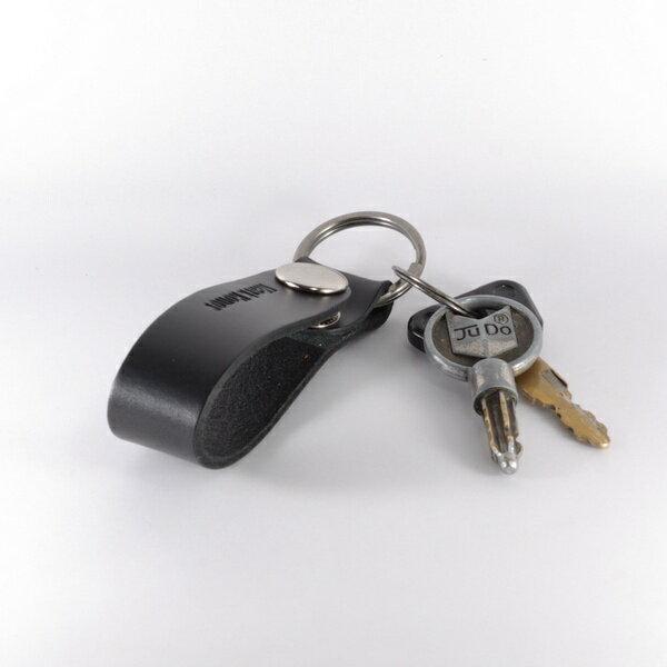 鑰匙圈 真皮 皮革 長版 黑 -Mark Honor