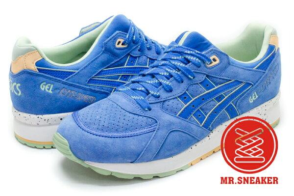 ☆Mr.Sneaker☆ASICSTigerGel-SPEEDH615L4242April麂皮分裂鞋舌刷舊水洗藍色男女段