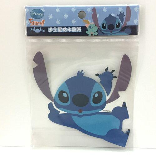 【真愛日本】15081200099 防水貼紙L-臥躺史迪奇 迪士尼 星際寶貝 史迪奇 行李箱裝飾貼紙
