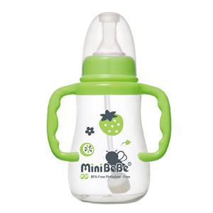 ~蜜妮寶貝嬰童用品館~和風自動把手奶瓶  容量: 150ml  5oz 顏色: 橘  綠