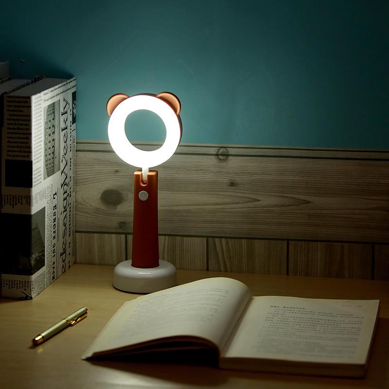 桌面usb燈小孩寫字燈辦公室加班燈臥室USB充電便攜暖光補光燈1入