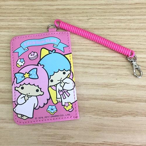 【真愛日本】17071300002 新一代伸縮證件套-TS粉 三麗鷗 kikilala 雙子星 票卡夾 識別證套