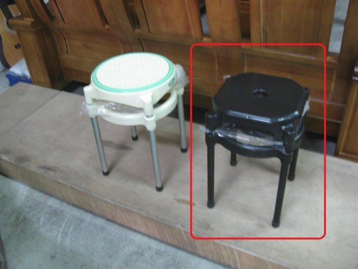 【石川家居】YU-416-11 B 塑鋼黑面中洞椅(不含 ) 台北到高雄 車趟免運