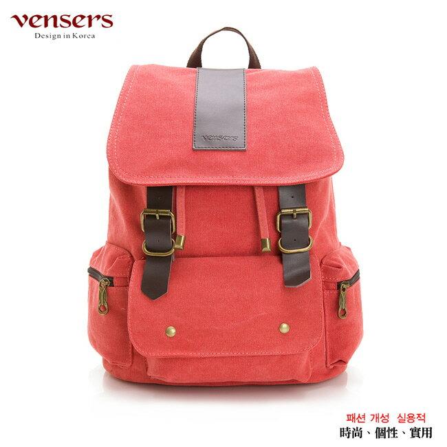 【vensers】韓潮棉麻包系列~後背包(D012603橙色)
