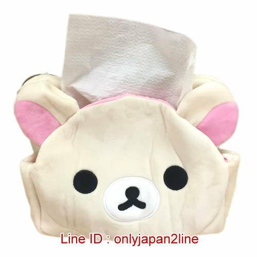 【真愛日本】17011700002頭型立體面紙套-奶熊  SAN-X 懶熊 奶熊 拉拉熊 面紙套 居家用品