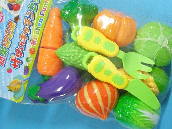 蔬菜切切樂 ST-838 小廚師蔬果切切樂/一袋入{促180}家家酒玩具~生 ST安全玩具