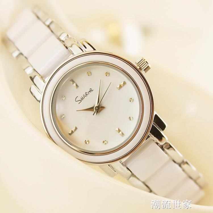 手錶女學生韓版簡約時尚潮流ulzzang小巧大氣休閒時裝手錬式女錶