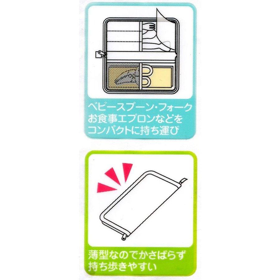 【超取免運】日本 SKATER 米奇 外出餐具收納袋 餐具收納包*夏日微風* 4