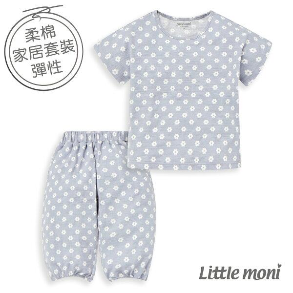 Littlemoni家居系列短袖套裝-粉紫藍