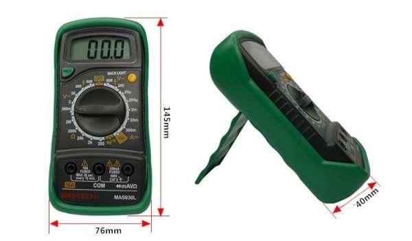 三用電錶 帶保險管防燒保護 專業型數字三用電錶 萬用電錶 折疊式萬用表 數位三用電錶 1
